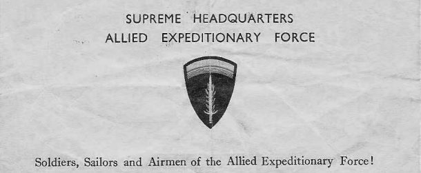 D-Day letterhead
