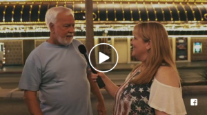 Video of The Girl Who Wore Freedom Director Christian Taylor interviews people in Last Vegas