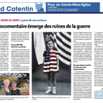 French newspaper with an article about The Girl Who Wore Freedom