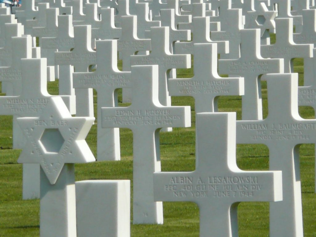 Soldier's tombstones in Normandy