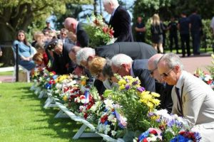 The 'Laying of the Wreaths' at the Memorial Day Ceremony in the Normandy American Cemetery