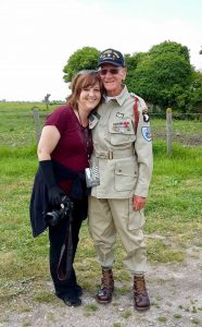 Michèle Phoenix in Normandy with Staff Sergeant Rice of the 101st Airborne