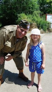 Todd Anton and a young girl