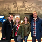 Director Christian Taylor of The Girl Who Wore Freedom and others visiting normandy