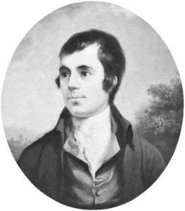 Robert Burns, detail of an oil painting by Alexander Nasmyth; in the National Portrait Gallery, London.
