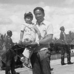 """Tatay"" and his nephew at the MacArthur Landing Memorial National Park in Leyte, Philippines."