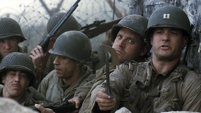 A scene from the movie Saving Private Ryan