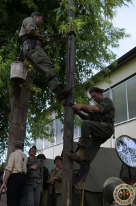 Radio Signalman Re-Enactment in Carentan