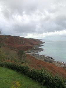 Rainy cliffs in Normandy
