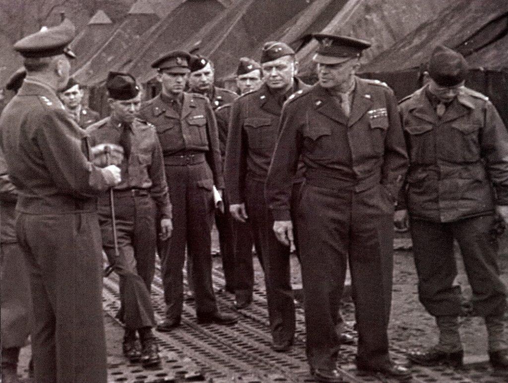 Robert A Miller with Gen. Eisenhower