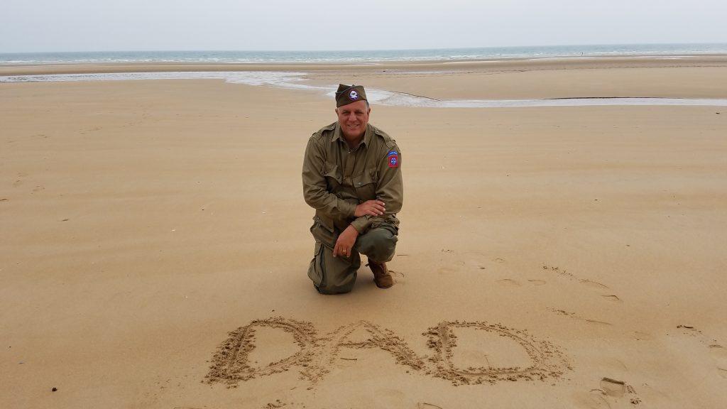Todd Anton on Omaha Beach