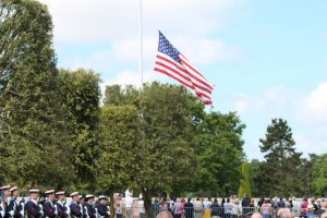 American Flag at half-mast