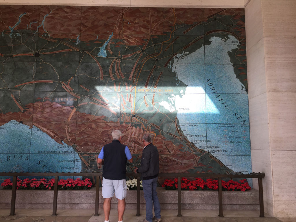 The Map at the memorial at the Florence American Cemetery