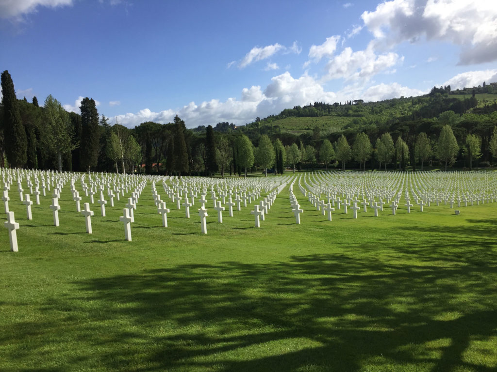 The cemetery in Tuscany