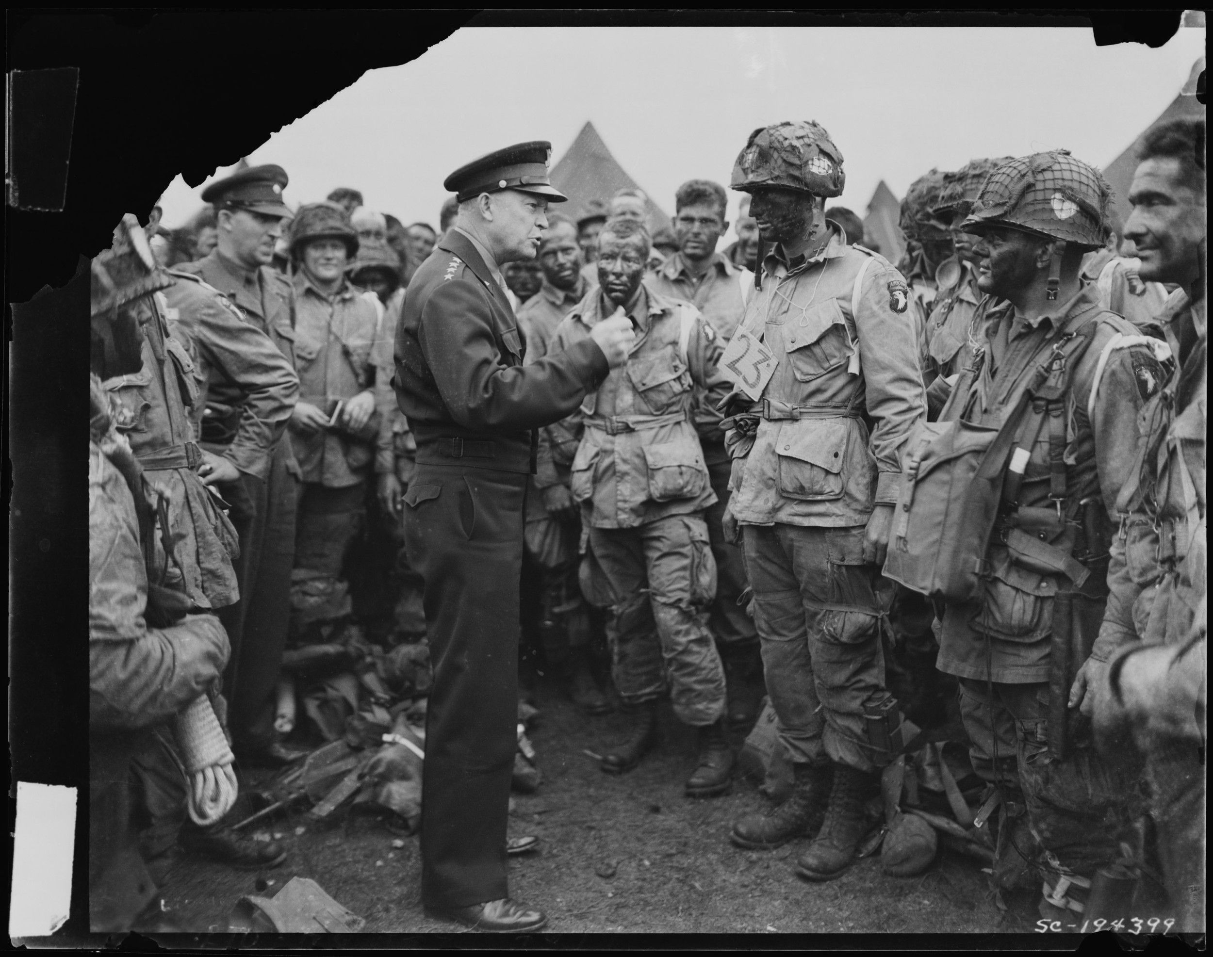 Gen. Eisenhower with the troops