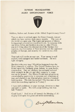 Order of the Day-June 6, 1944