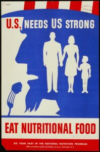 "WW2 Poster-""Healthy Eating"""