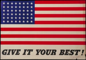 WW2 Poster of American Flag