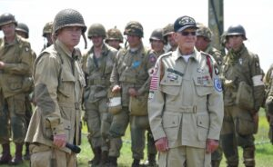 Tom Rice with 101st Reenactors