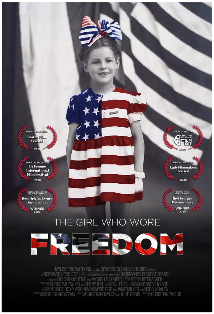 The movie poster of The Girl Who Wore Freedom with the laurels and awards that the film has received